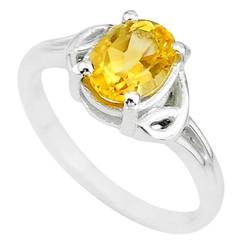 Zilveren ring Citrien