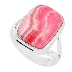 Zilveren ring Rhodochrosiet