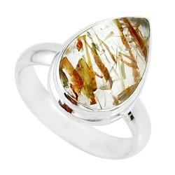 Zilveren ring Rutielkwarts