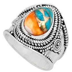 Zilveren ring Spiny Oyster