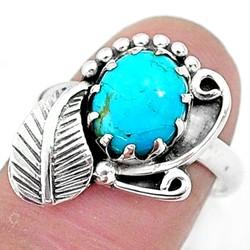 Zilveren ring Turkoois
