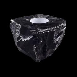 Obisidiaan Waxinelichthouder 1