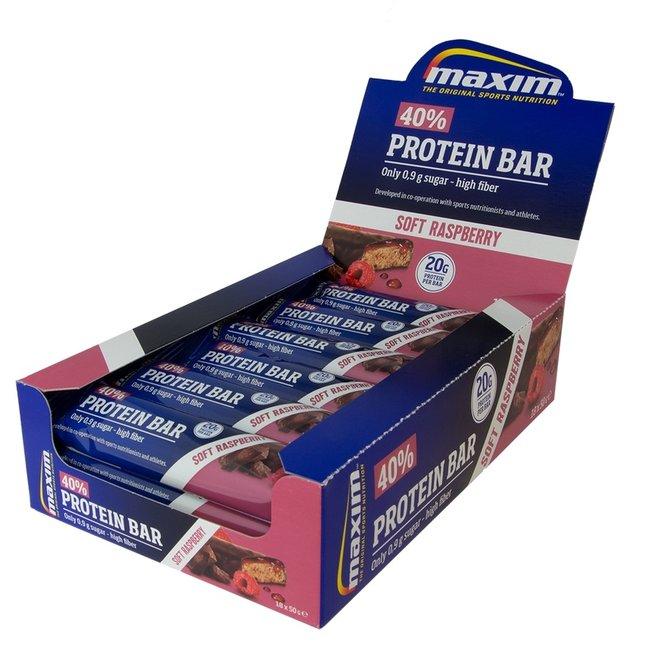 Maxim 40% Protein Bar Soft Raspberry