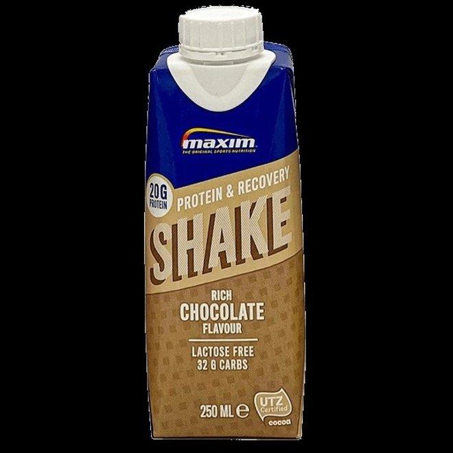 maxim protein en recovery shake  chocolade