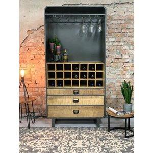 Dimehouse Yecla Weinregal Holz 200x100 cm