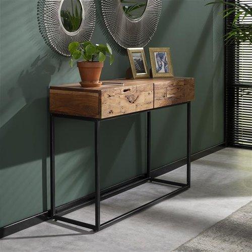 Pim Sideboard Vintage Holz - 2 Schubladen