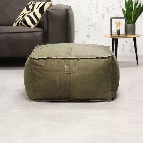 Pearson Sitzsack Leder Olivgrün