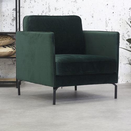 Peppin Sessel Samt Grün