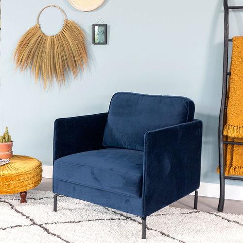 Peppin Sessel Samt Blau
