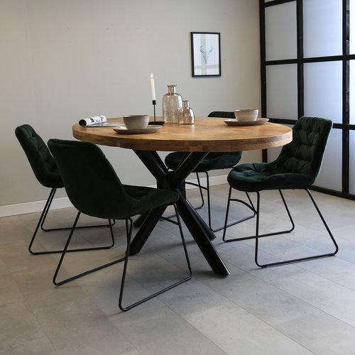 Oregon Esstisch Oval Industrial Mangoholz - 240x110cm