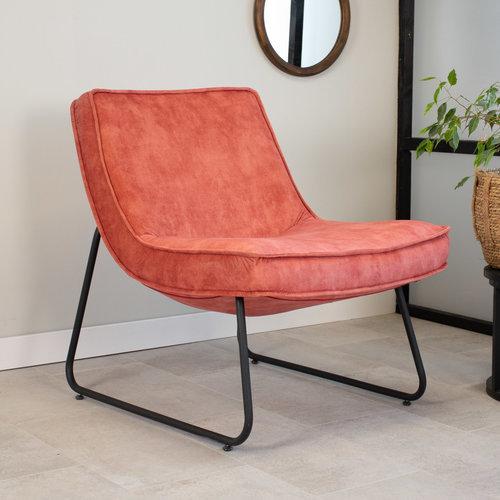 Lowen Sessel Industrial Samt Rosa