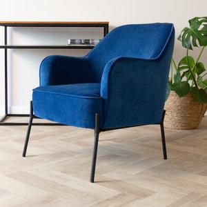 Laura Sessel Industrial Samt Blau