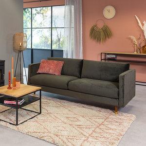 Brooklyn Sofa Industrial 3-Sitzer Samt Grün