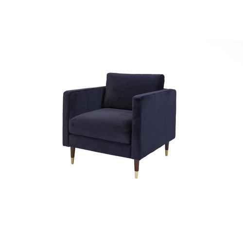 Brooklyn Sessel Samt Blau