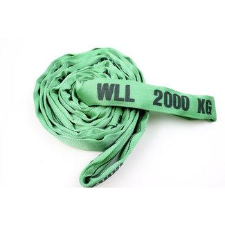 Rondstrop DV-20 Groen WLL 2000 kg met dubbel geweven hoes