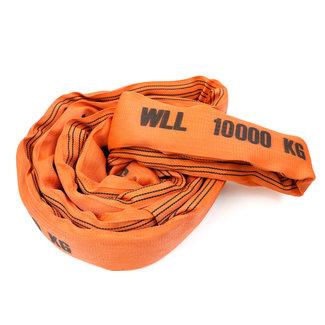 Rondstrop DV-100 Oranje WLL 10000 kg met dubbel geweven hoes