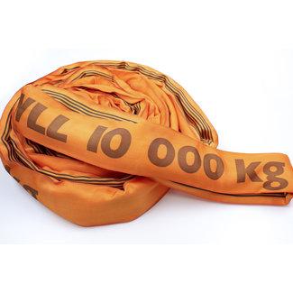 Rondstrop ES-100 Oranje WLL 10000 kg met enkele hoes