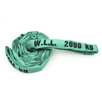 Rondstrop ES-20 Groen WLL 2000 kg met enkele hoes