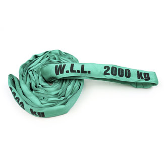 Roundsling ES-20 Green WLL 2000 kg with single cover