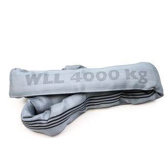 Rondstrop ES-40 Grijs WLL 4000 kg met enkele hoes