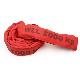 Roundsling ES-50 Red WLL 5000 kg with single cover