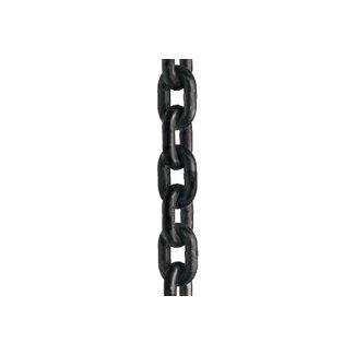 Ketting kortschalmig zwart gecoat K-10