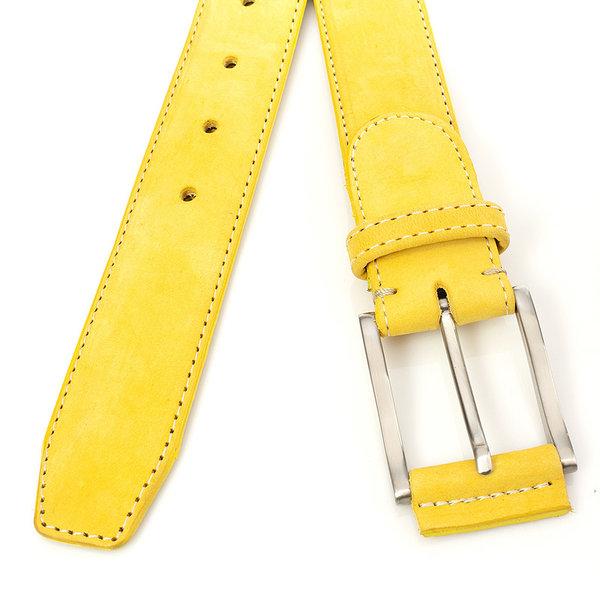 JV Belts Gele nubuck riem unisex