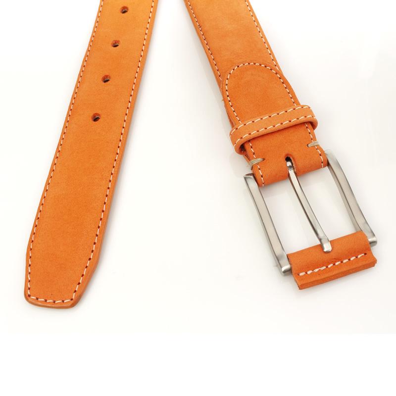 JV Belts Oranje nubuck riem unisex
