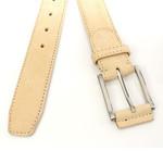 JV Belts Roomkleurige nubuck riem unisex