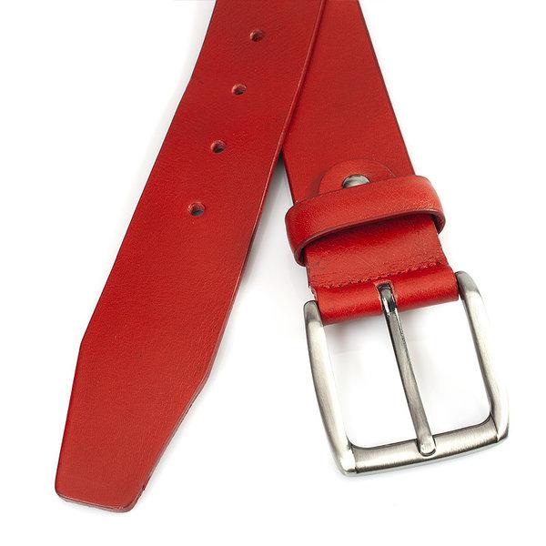 JV Belts Rode leren jeansriem