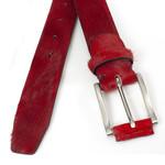 JV Belts Rode hair-on riem unisex