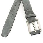 JV Belts Croco look suède riem donker grijs