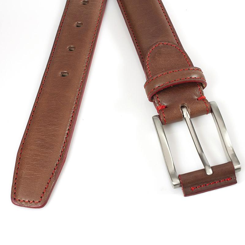 JV Belts Rood bruine herenriem