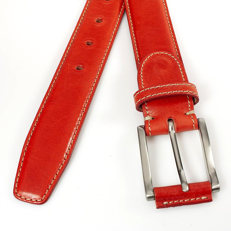 JV Belts Rode leren herenriem