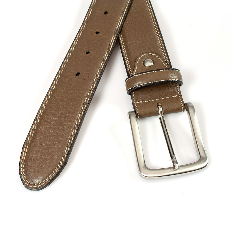 JV Belts Donkere taupe heren riem