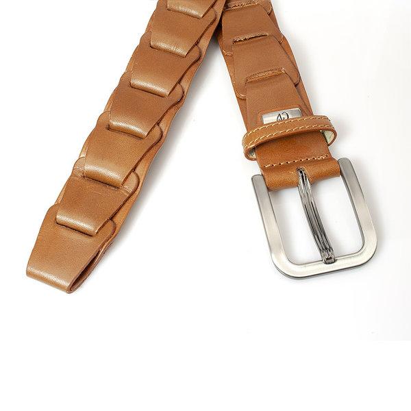 JV Belts Heren fantasie vlecht riem cognac