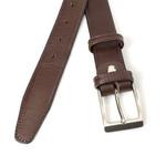 JV Belts Donker bruine pantalonriem