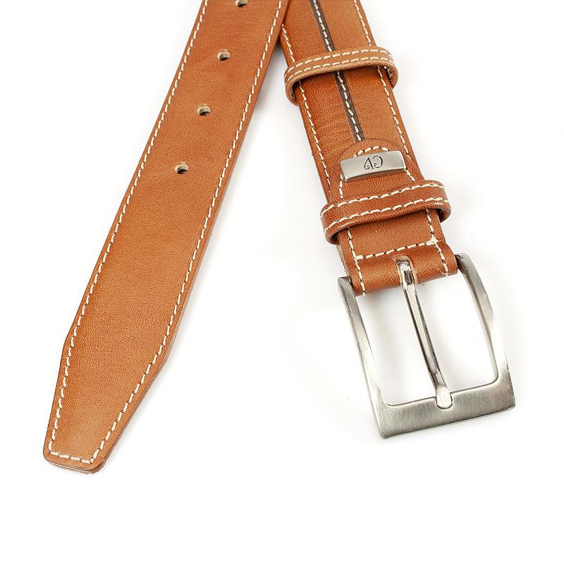 JV Belts Cognac herenriem