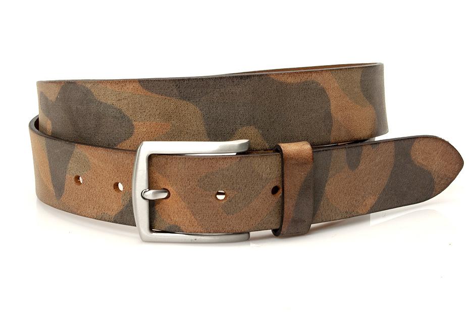 Thimbly Belts Unisex riem bruin/groen