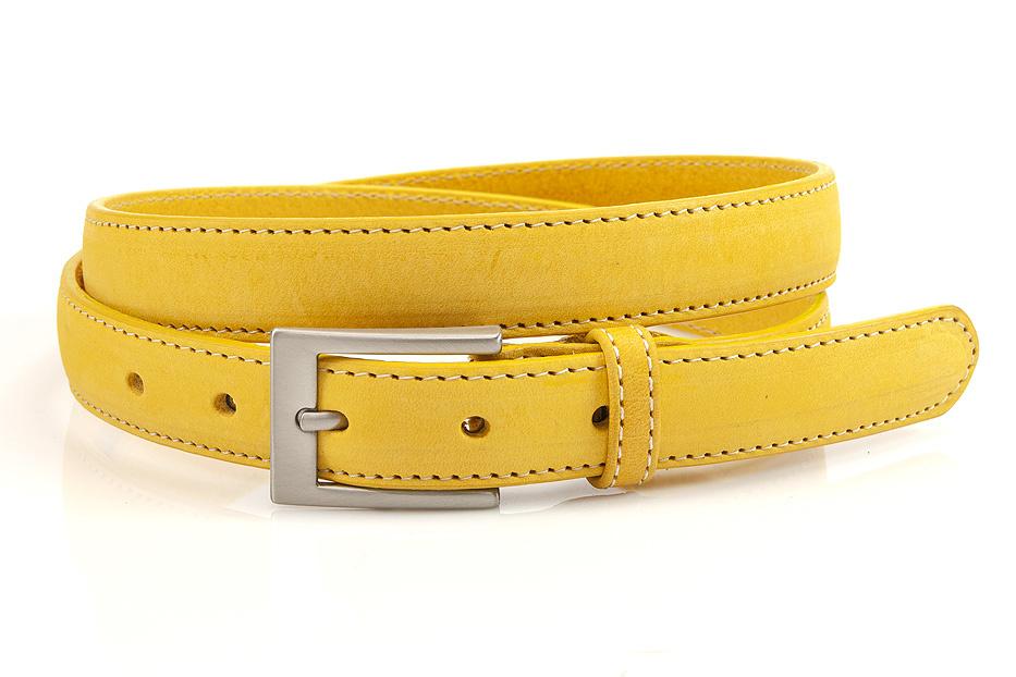 JV Belts Gele nubuck dames ceintuur