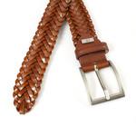 JV Belts Vlechtriem cognac