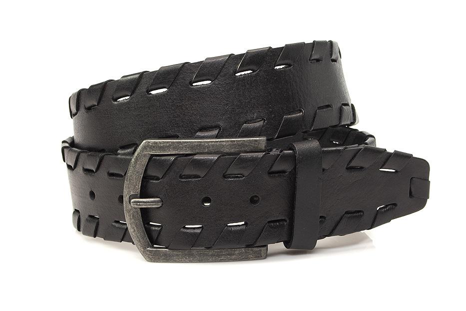 Thimbly Belts Stoere jeansriem zwart