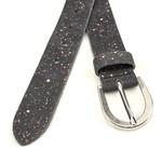 Thimbly Belts Damesceintuur zwart met spikkels