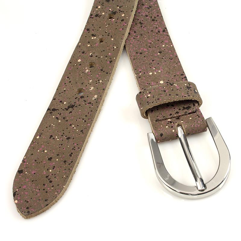 Thimbly Belts Damesceintuur bruin met spikkels