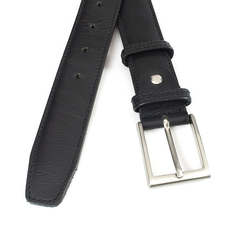 JV Belts Mooie zwarte gebolleerde pantalonriem