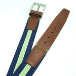 Gilmart Donkerblauwe elastische heren riem