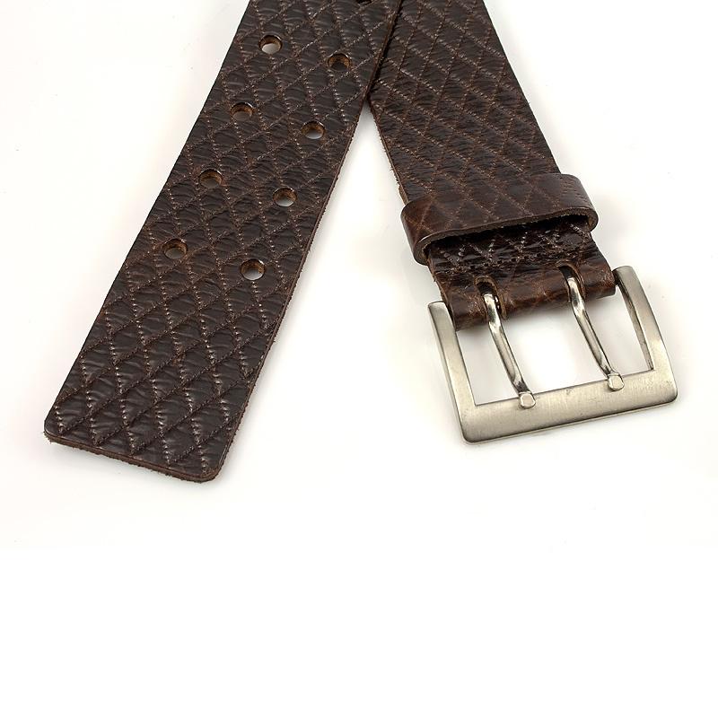 Thimbly Belts Damesceintuur bruin met dubbele doorn