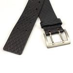 Thimbly Belts Damesceintuur zwart met dubbele doorn