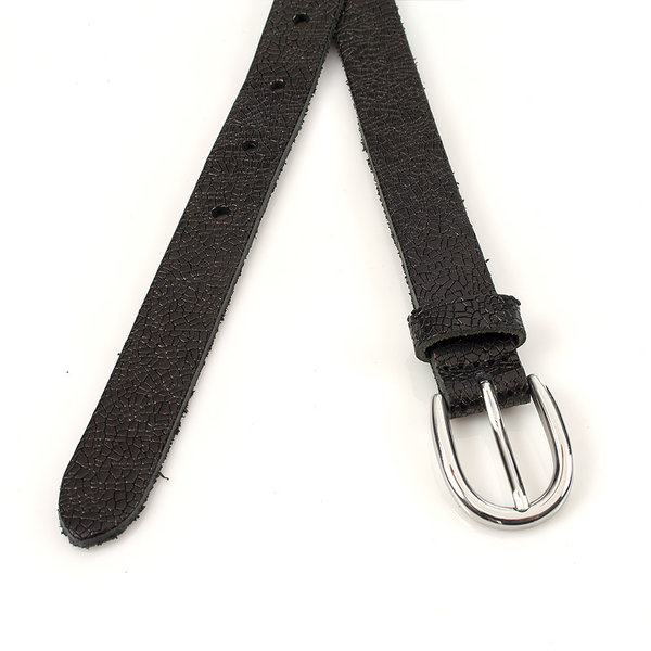 Thimbly Belts Damesceintuur zwart geprent