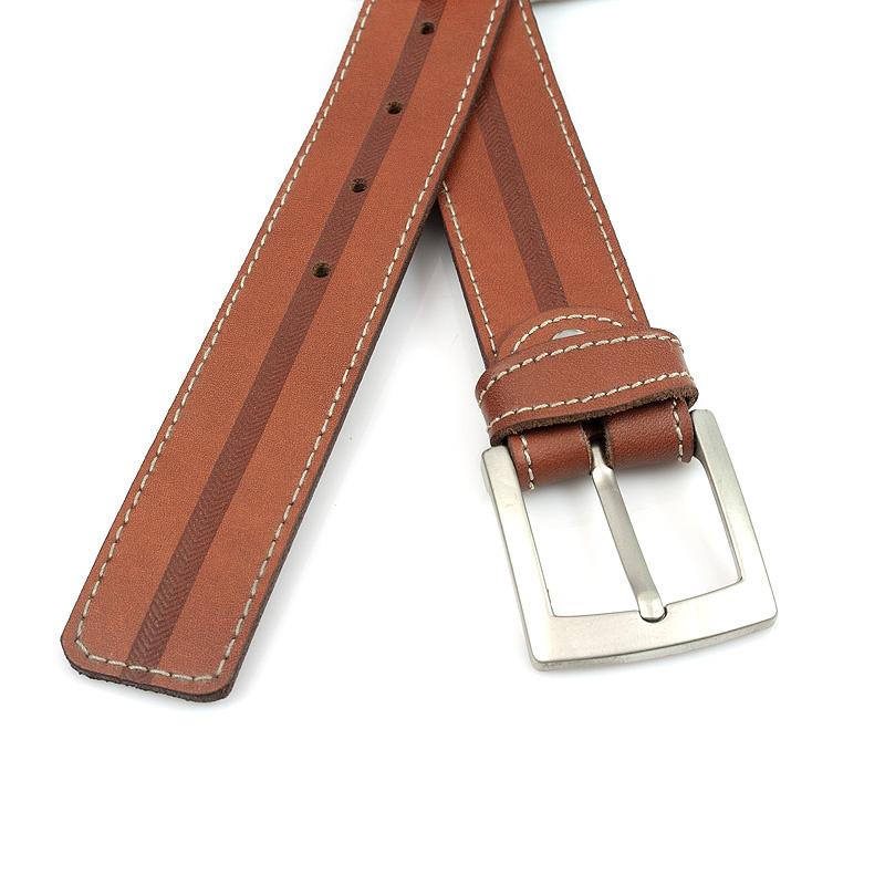 JV Belts Cognackleurige heren vrijetijds riem
